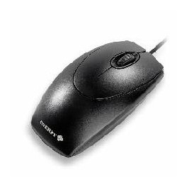 MOUSE CHERRY OPTICO 3 BOTONES OEM PS/2 NEGRO - Inside-Pc