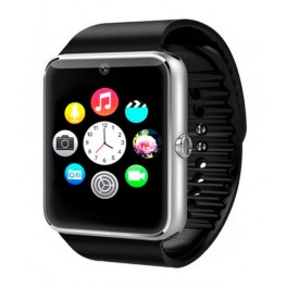 SmartWatch GT08 SIM+SD+BLUETOOTH Negro+Plata - Inside-Pc