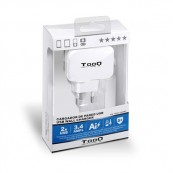 CARGADOR DE PARED USB TOOQ TQWC-1S02WT BLANCO - Inside-Pc