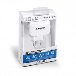 CARGADOR DE PARED USB TOOQ TQWC-1S02WT BLANCO - Inside-Pc