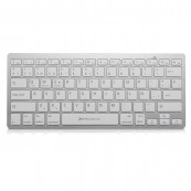 TECLADO QWERTY INALÁMBRICO BLUETOOTH 3.0 PHOENIX PHBTKEYBOARDW - ANDROID WINDOWS IOS APPLE - ULTRA FINO METAL PLATA - Inside-Pc