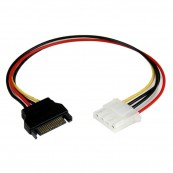 Cable adaptador SATA 15 Pines a Molex 4 Pines - Inside-Pc