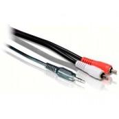 Cable Audio 5m Jack 3.5mm 2x RCA Estéreo Biwond - Inside-Pc
