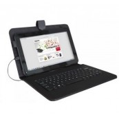 "FUNDA TABLET APPROX 9"" CON TECLADO USB NEGRA - Inside-Pc"