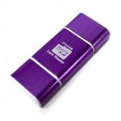 Lector de memorias OTG USB - MicroUSB Morado - Inside-Pc