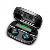 Mini Auriculares Bluetooth TWS-S11 LED IOS - Android Negros - Inside-Pc