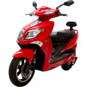 Electric Motorcycle Hawk 49e Homologated 1800W - 20AH Red - Inside-Pc