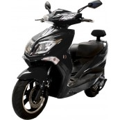 Electric Motorcycle Hawk 49e Homologated 1800W - 20AH Black - Inside-Pc