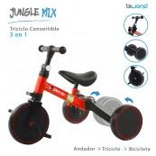 Triciclo Infantil Convertible 3-en-1 Biwond Jungle Mix Rojo - Inside-Pc