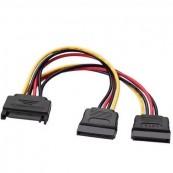 Cable Alimentacion SATA Macho - 2x SATA Hembra - 20cm - Aisens A131-0353 Negro - Inside-Pc