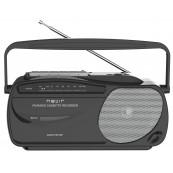 Radio Cassette Portatil Nevir Nvr-443T Negro - Plata - Inside-Pc