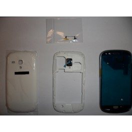 REPUESTO HOUSING COMPLETO SAMSUNG GALAXY S3 MINI I8190 BLANCO - Inside-Pc