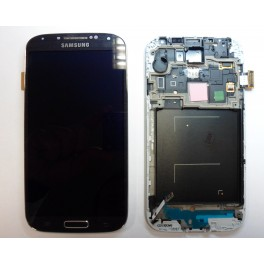 REPUESTO PANTALLA LCD+TOUCH+FRAME(MARCO) SAMSUNG GALAXY S4 I9500 NEGRO - Inside-Pc