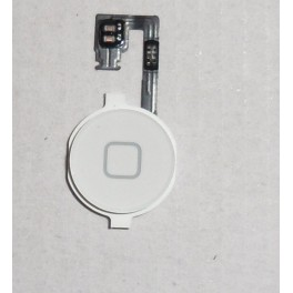 REPUESTO BOTON HOME + FLEX APPLE IPHONE 4G BLANCO - Inside-Pc