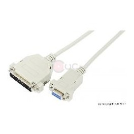 CABLE SERIE DB25M/DB9H NULL MODEM  1.8M - Inside-Pc