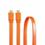 CABLE HDMI V1.4 PLANO 1.8M 24K NARANJA - Inside-Pc