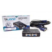 Conmutador KVM2 USB/VGA Switch 4 Puertos + Cables BIWOND - Inside-Pc