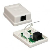 ROSETA SUPERFICIE RJ45 CAT.6 UTP 1TOMA NANOCABLE - Inside-Pc