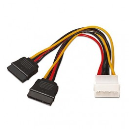"CABLE SATA ALIM 5.25""(MOLEX 4PIN)M-2XSATA 20 - Inside-Pc"
