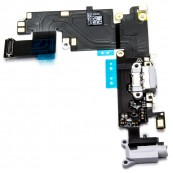 Conector Carga + Audio + Micrófono Flex iPhone 6 Plus Blanco - Inside-Pc