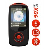 Reproductor MP3 Bluetooth 4Gb X06 Rojo - Inside-Pc