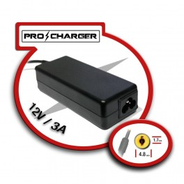 Cargador 12V/3A 4.8mm x 1.7mm 36w Pro Charger - Inside-Pc
