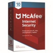 ANTIVIRUS MCAFEE INTERNET SECURITY 2018 10 DISPOSITIVOS - Inside-Pc