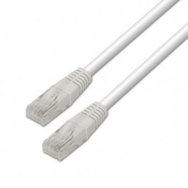 CABLE RED ETHERNET UTP CAT6 RJ45 AISENS 0.5M BLANCO - Inside-Pc