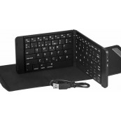 DOUBLE FOLDING WIRELESS KEYBOARD SILVER HT  - Inside-Pc