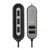 CARGADOR USB COCHE - 5 PUERTOS - 54W EWENT - Inside-Pc