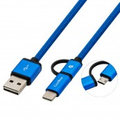 CABLE USB2.0 COOLBOX MULTIPLE CARGA - DATOS - MICROUSB - USB-C - USB-A - Inside-Pc