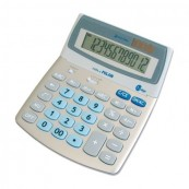 12 DIGIT MILAN CALCULATOR 20X16X3 CMS MEMORY - DOUBLE ADJUSTABLE SCREEN - DUAL SOLAR CELL CELL - BATTERY - Inside-Pc