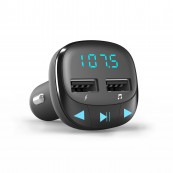 Transmisor FM - Reproductor Mp3 Energy Car Transmitter FM Negro - Inside-Pc