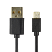 CABLE POWER2GO CONECT LIGHTNING A USB NEGRO PACK 5 - Inside-Pc