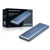 "CAJA EXTERNA HDD 2.5"" CONCEPTRONIC M.2 USB-C 3.1 GRIS - Inside-Pc"