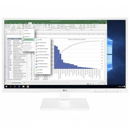 "MONITOR LED 23.8"" LG 24BK550Y-W FHD 5MS D-SUB HDMI DVI-D DISPLAYPORT BLANCO - ALTURA REGULABLE - Inside-Pc"